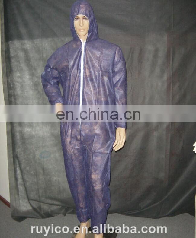 Disposable PP microporous Coveralls with hood zipper