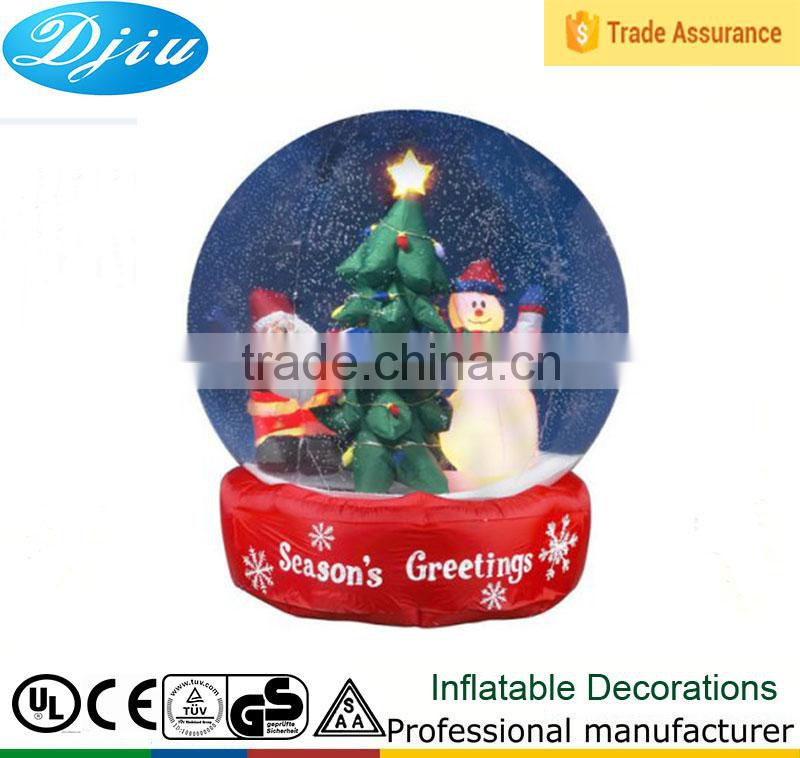 4-7 ft animated airblown snow globe Santa snowman Christmas inflatable light