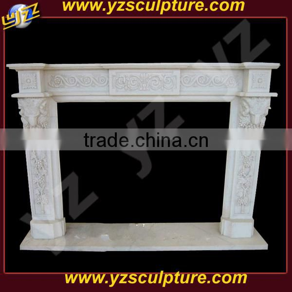 indoor carving fireplace surround for decoration