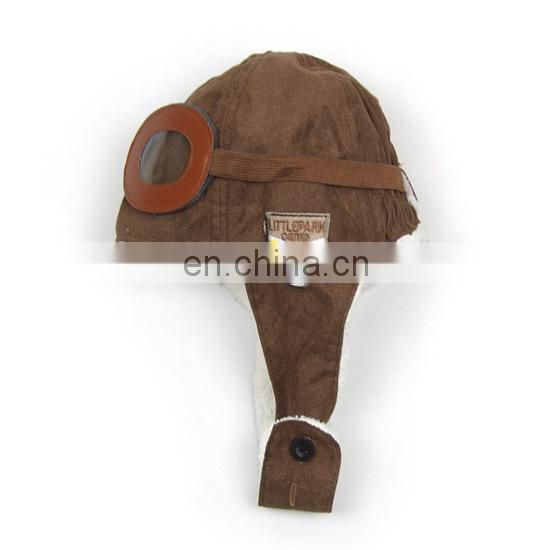 Cute fashion baby aviator hats velvet good quality baby caps