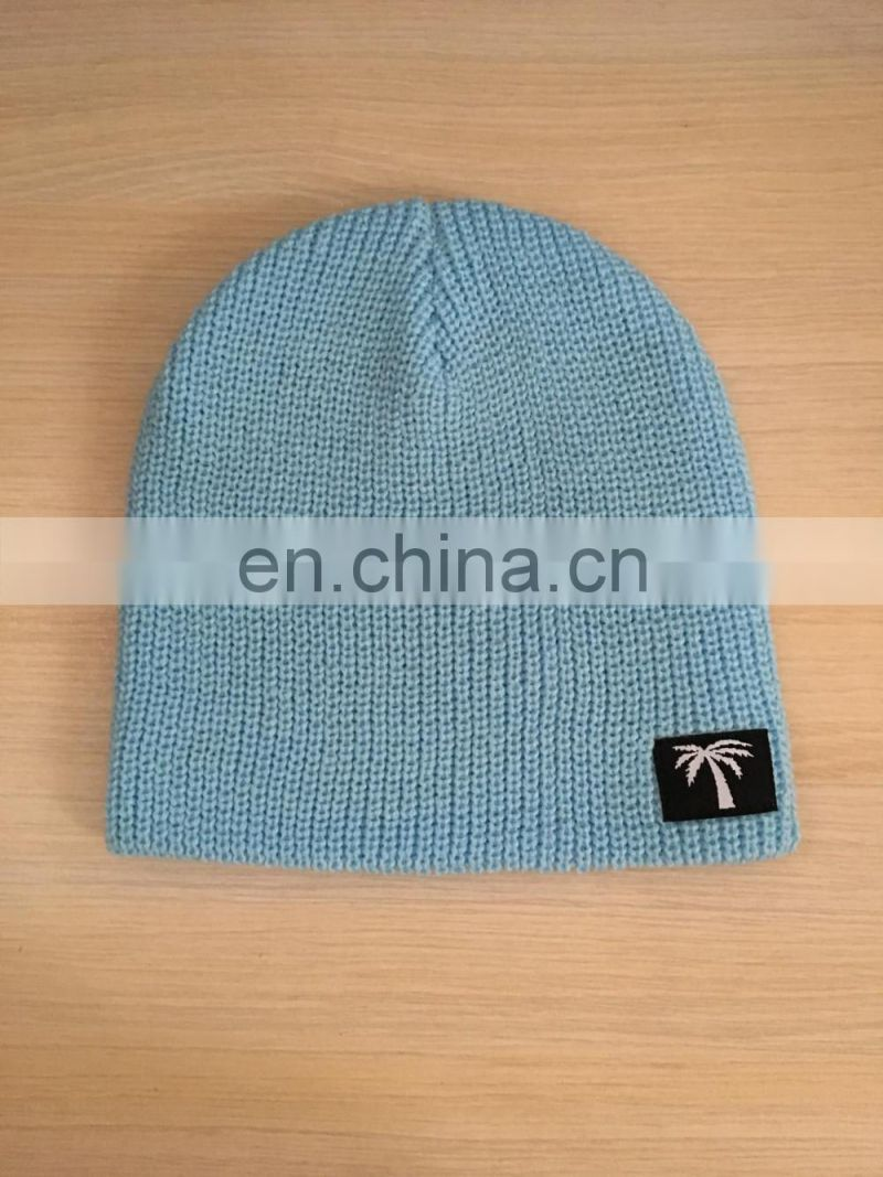 New Fashion Beanie Hat Top Quality Knitted Winterwith woven label