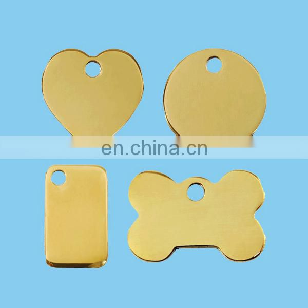 blank metal dog tag, blank peg tag with round/quare shape