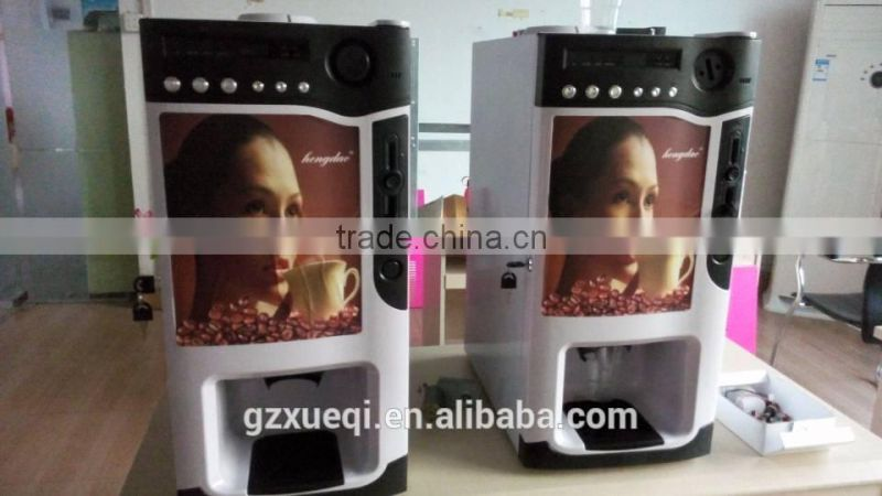 3 Hot Flavors/Beverage Automatic Mini Office Multi-function automatic coffee vending machine