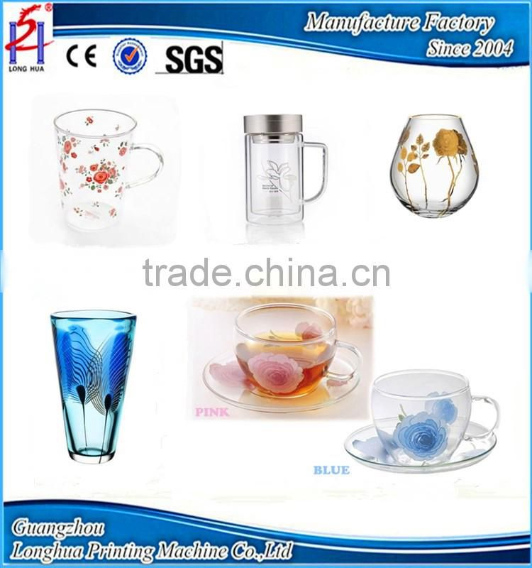 Pneumatic 4 Colors Glass Coffee Cup/Mug Pad Printing Machine,Plastic