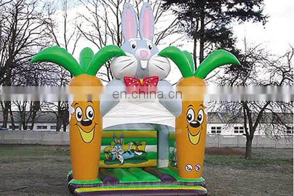 Inflatable Rabbit-Carrot bouncer with EN-14960 Standard