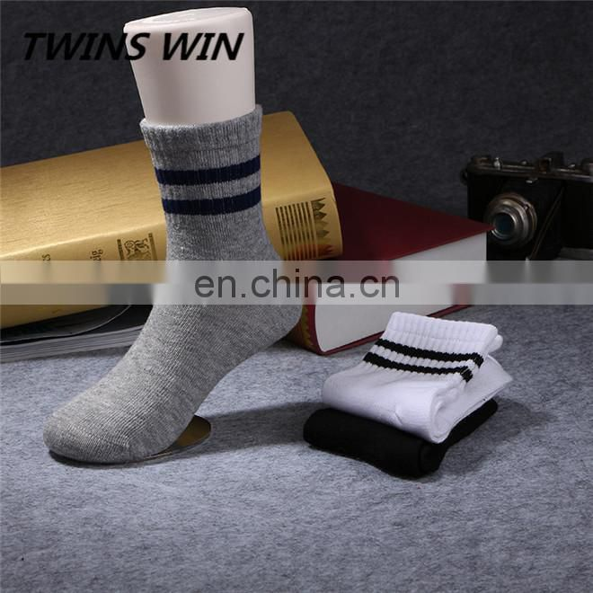 Small moq low price Custom Design children unisex Winter Warm woven cotton anti slip socks ankle length wholesale