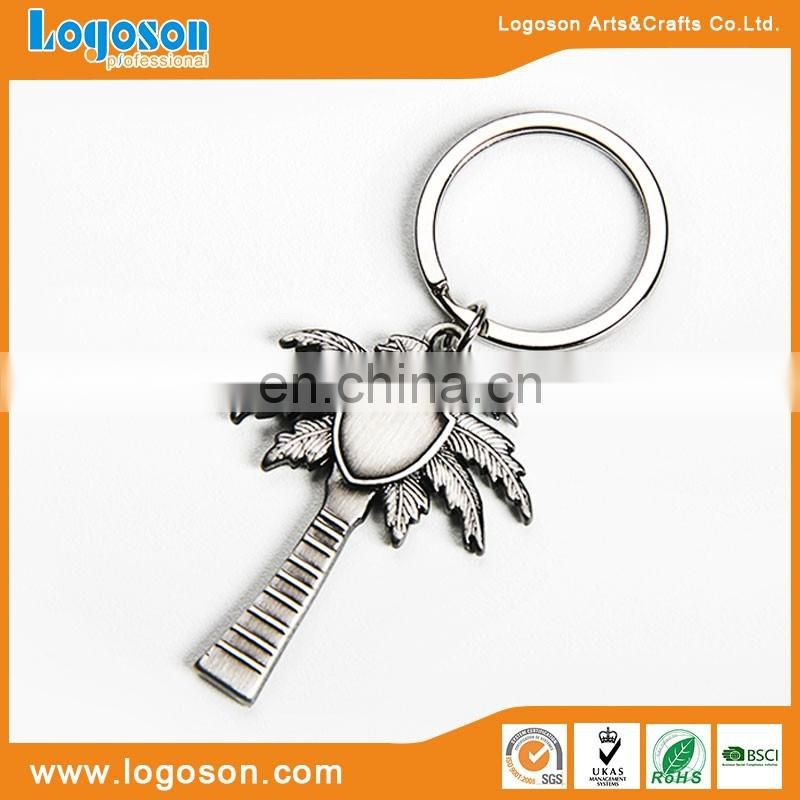 New products eco-frinedly material custom tree design souvenir keychain logo keyring