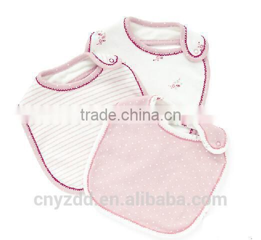 Bibs for Baby with One Snap/Cotton Baby Bibs in Good Quality/Two layers 100% Cotton baby bibs without Waterproof