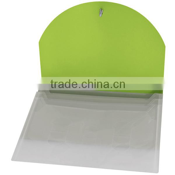 Color Flap Translucent Document Holder