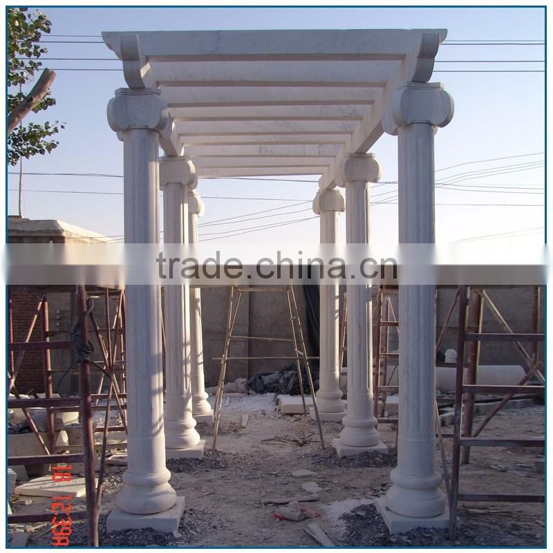 Column Gazebo Big White Marble Garden Pavilion Gazebo