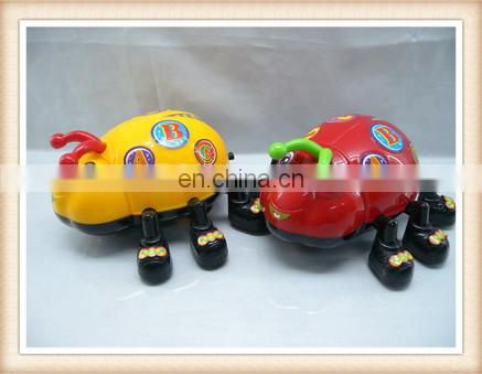 Plastic pull line beetle insect ladybug toy