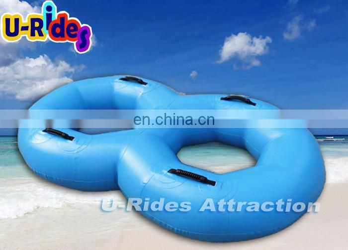 Blue Color 8 Shape PVC Inflatable Swimming Ring For Sale