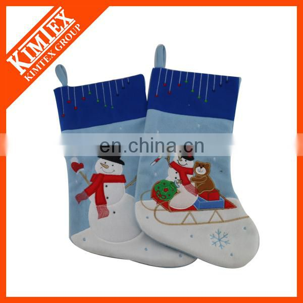 2015 good quality wholesale black unique santa christmas stockings