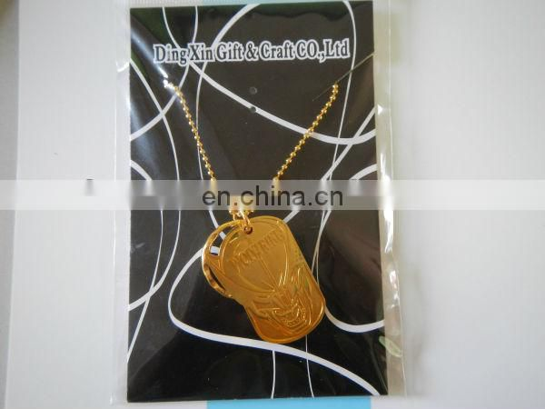gold custom medal necklace