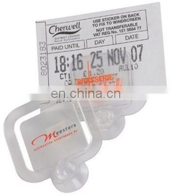 Suction Cup plastic ticket holder clip