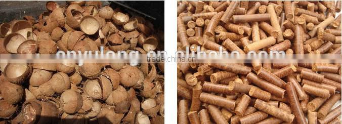 YULONG Vertical ring die wood pellet machine ,pellet press 1-1.5T/Hour XGJ560 with Automatic lubrication