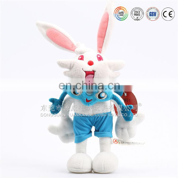 ICTI and Sedex audit new design grey bunny rabbit soft toy