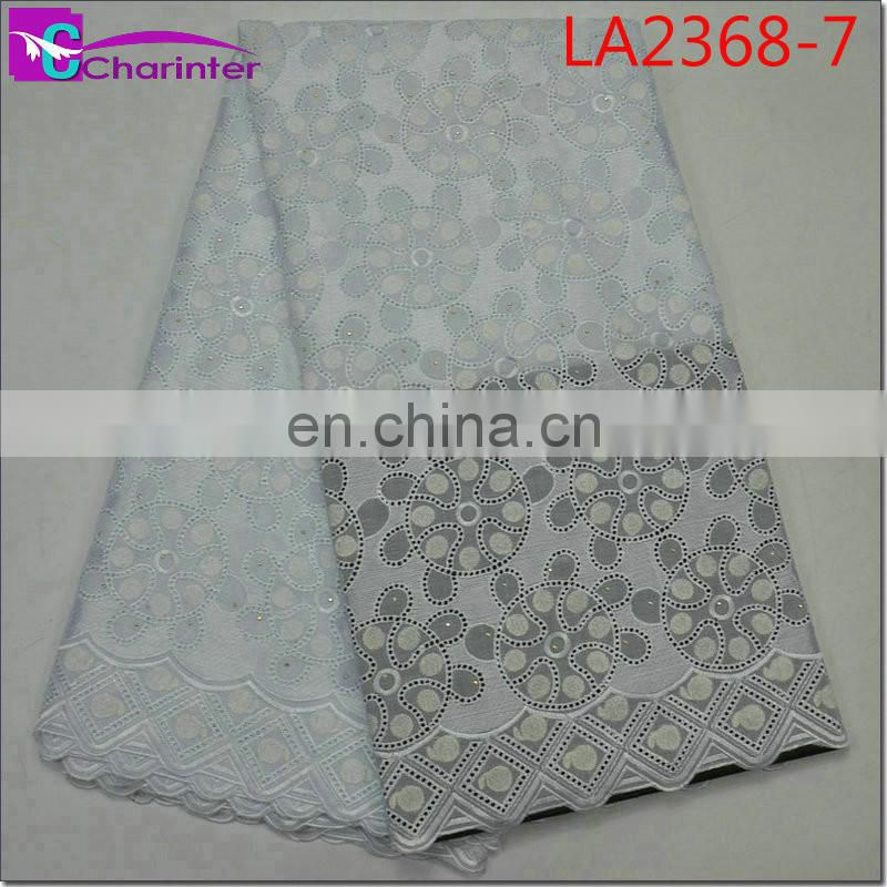 african big voile cotton lace fabrics wedding dresses LA2368