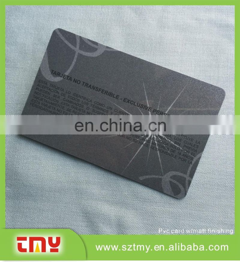 Nice printing plastic club card with foil stamping
