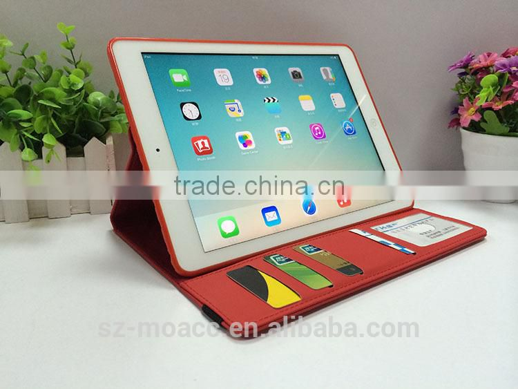 stand wallet case for iPad air 2,for ipad air 2 cover