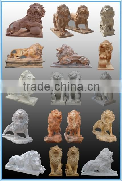 natural stone chinese dog lion statue front door decoration NTBM-L008Y