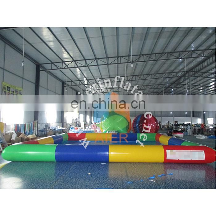 Colorful inflatable swimming pool for fun,custom inflatable pool toys for kids,