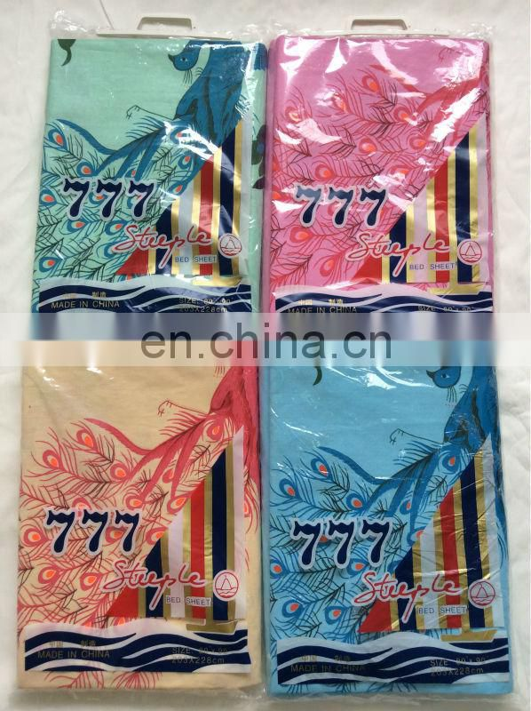 777 brand Popular and classic peacock design with a handle polybag