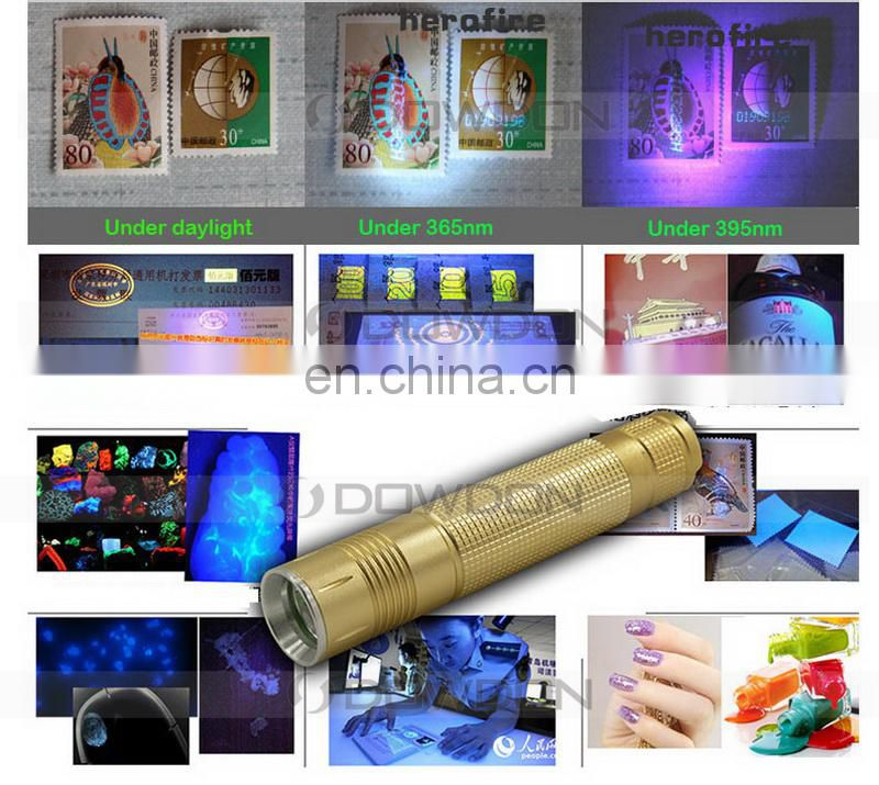5W 365nm UV Blacklight Ultraviolet Flashlight Fake Currency Invisible Inks Torch