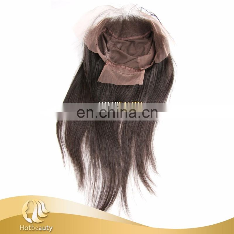 Hot Selling Cheap Brazilian Virgin Human Hair 13x4 Back with Elastic Band 360 Lace Band Frontal with Cap
