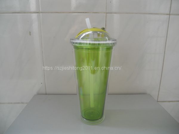 650ml big capacity acrylic drink cup with lid Image