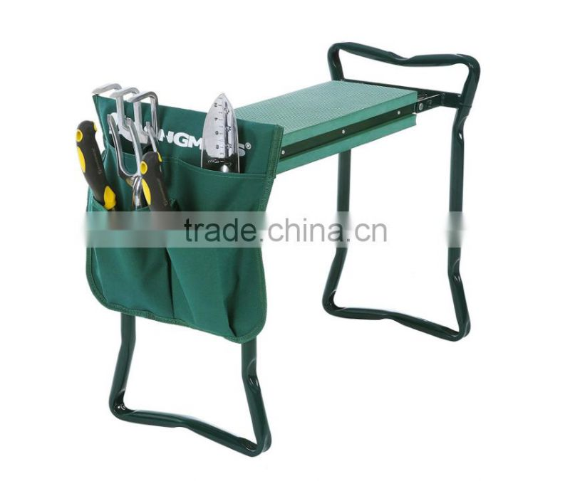 Deluxe Foldable Garden Kneeler and Seat with Tool Pouch