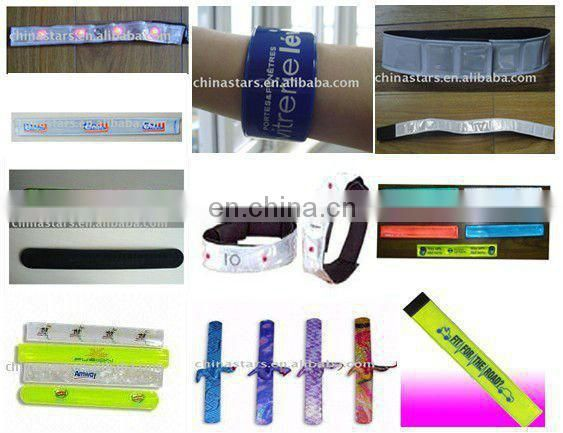 Reflective safety slap wrap in assorted colors