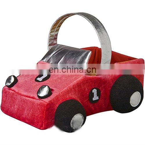 Plush car candy basket toy for big kids F0105