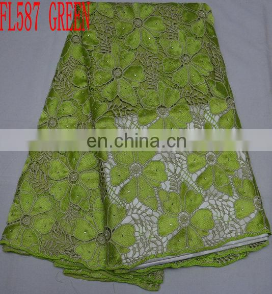 Hot sale cotton lace/ african cord lace/ guipure lace/ embroidery lace
