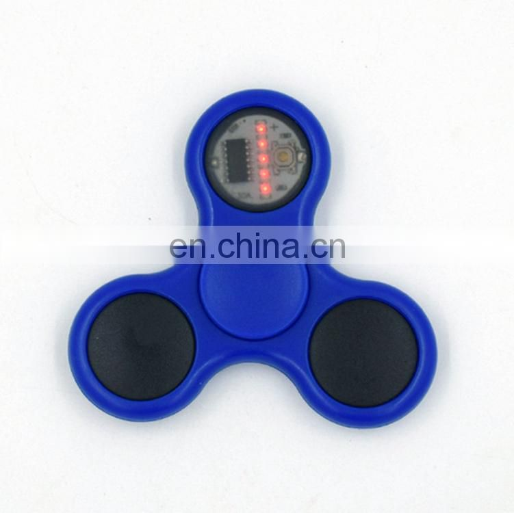 Muti-color led Hand Spinner Ceramics Bearing edc Tri-Spinner Fidget Toy