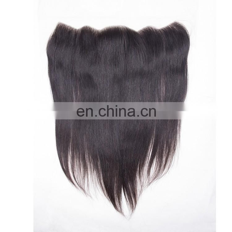 Raw Indian Hair Ear To Ear Pre Plucked Lace Frontal Closure Straight Human Hair Extensions Lace Frontal Piece