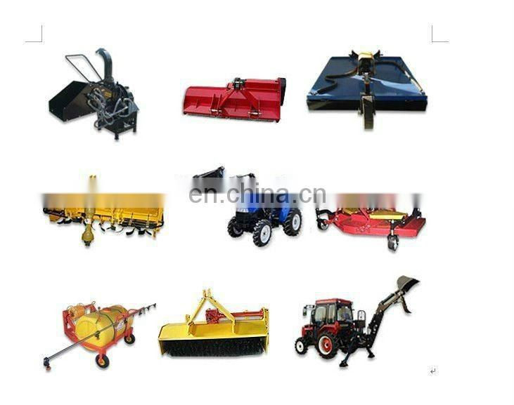 90hp hydraulic farm tractor with implements