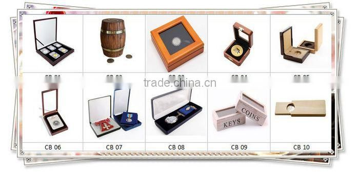 Handmade fashional wooden coin box coin case