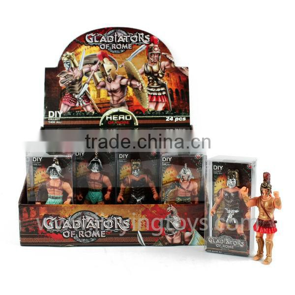 Boys favorite roman gladiator set plastic figure with EN71 ASTM