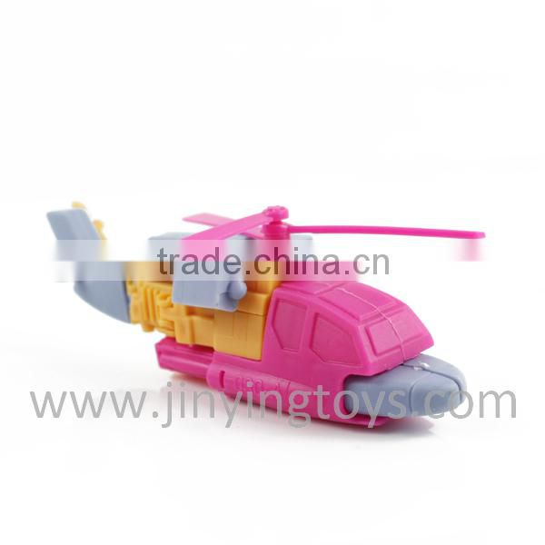 2015 Plastic helicopyer transformable toys with EN71