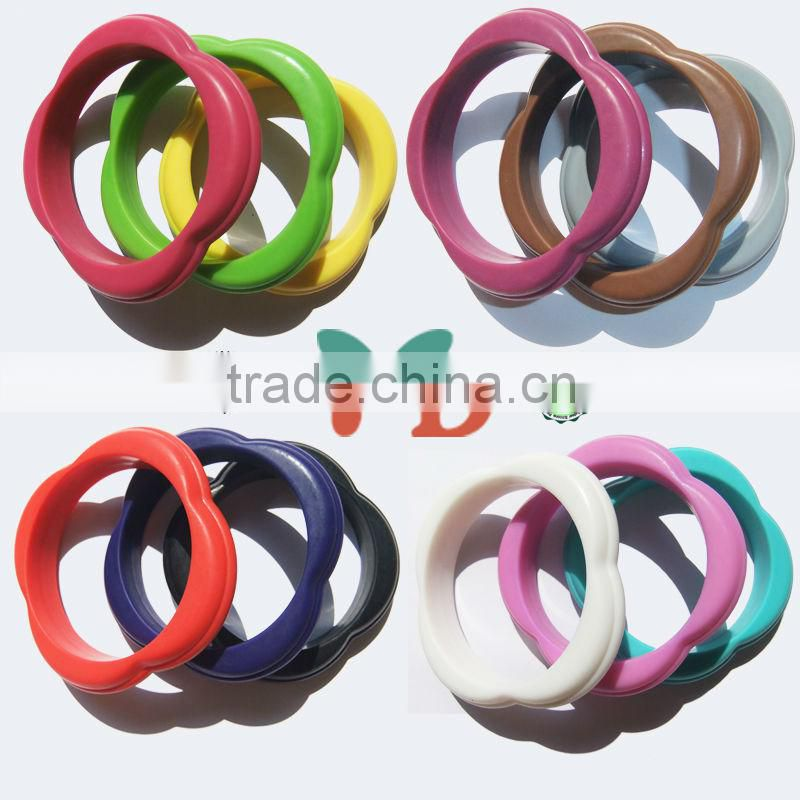 Wholesale new design india silicone bracelets