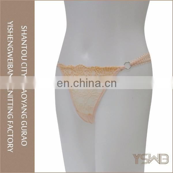 Fashion design hot selling breathable lace brazilian girls in panties