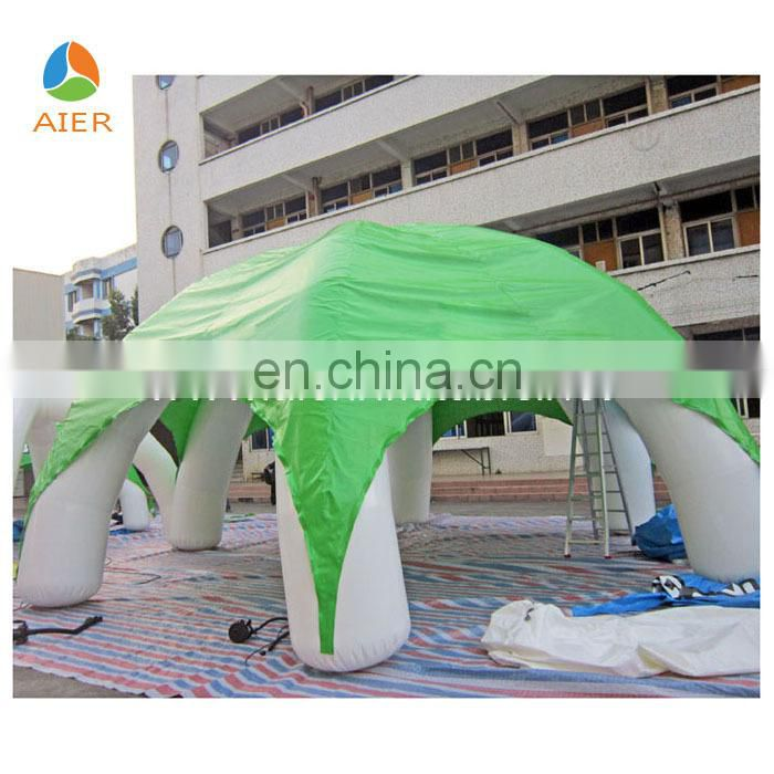 hot sale 8m clear inflatable camping tent for advertisment