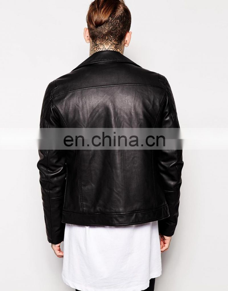 2014 newest Men's leather look like jacket Classic Style
