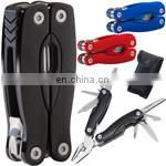 hercules small stainless steel carabiner multi tool knife with bottle opener,scissors,screwdriver