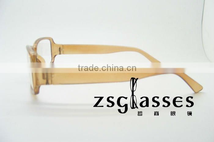 The latest clear plastic frame reading glasses with PC frame and AC lens