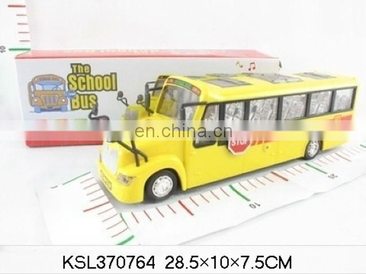 B/O bump'go cartoon car toy plastic school bus toys