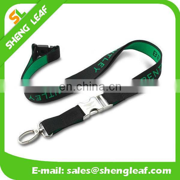 Silk printing polyester lanyard with accessory ATT5