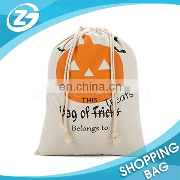 Custom Design Eco-friendly Gift Packing Pouch Drawstring Cotton Bag