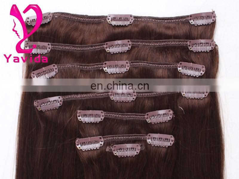 Wholesale NEW Genuine 100% clips in remy human hair extensions Mix Blonde 70g/set